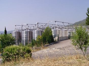 Wine Vats at Tuchan, Corbieres (Fitou)