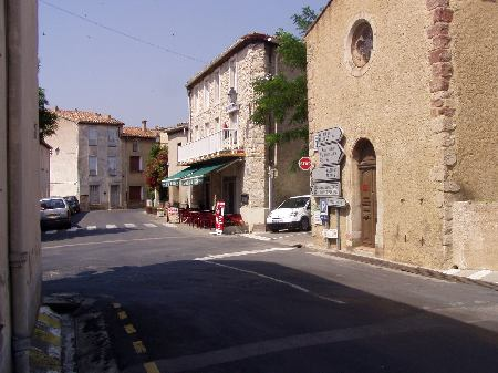 Square in the village of Tuchan